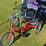 Adapted red bike from Cedar Foundations, Active Belfast Grants 15/16 awarded On Yer Bike Project Celebration Event